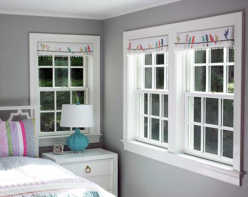 Girls Bedroom Design With Custom Valances Wellesley Ma
